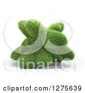 Clipart Of A 3d Abstract Grass Shape On White Royalty Free Illustration