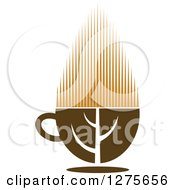 Poster, Art Print Of Leafy Brown Tea Cup 14