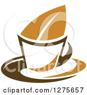 Poster, Art Print Of Leafy Brown Tea Cup 22