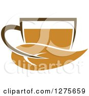 Poster, Art Print Of Leafy Brown Tea Cup 15