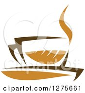 Poster, Art Print Of Leafy Brown Tea Cup 17