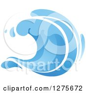 Clipart Of A Blue Splashing Ocean Surf Wave 17 Royalty Free Vector Illustration