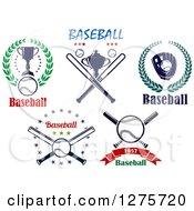 Clipart Of Baseball Sports Designs Royalty Free Vector Illustration