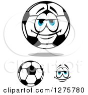 Blue Eyed Soccer Ball Character And Face