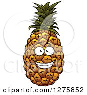 Clipart Of A Grinning Pineapple Royalty Free Vector Illustration