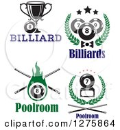 Clipart Of Billiards Pool Sports Designs Royalty Free Vector Illustration