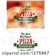 Clipart Of The Best Italian Pizza Restaurant Since 1982 Designs Royalty Free Vector Illustration
