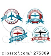 Red White And Blue Airplane Tour Designs