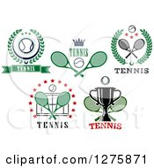 Clipart Of Tennis Sports Designs Royalty Free Vector Illustration