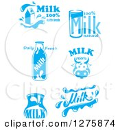 Clipart Of Blue And White Milk Designs 4 Royalty Free Vector Illustration by Vector Tradition SM
