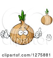 Clipart Of Yellow Onions And A Face Royalty Free Vector Illustration