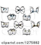 Clipart Of Expressional Female Eyes Royalty Free Vector Illustration by Vector Tradition SM