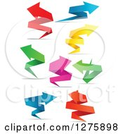 Clipart Of Colorful Paper Arrows And Shadows Royalty Free Vector Illustration by Vector Tradition SM