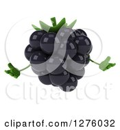 Clipart Of A 3d Blackberry Character Shrugging Royalty Free Illustration by Julos