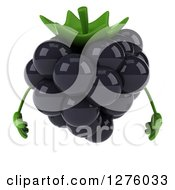 Clipart Of A 3d Blackberry Character Royalty Free Illustration