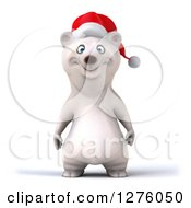 Clipart Of A 3d Christmas Polar Bear Royalty Free Illustration by Julos