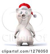 Clipart Of A 3d Christmas Polar Bear Royalty Free Illustration