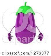 3d Aubergine Eggplant Character