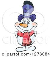 Clipart Of A Happy Mrs Snowman Royalty Free Vector Illustration