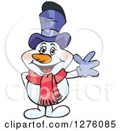 Clipart Of A Happy Mrs Snowman Waving Royalty Free Vector Illustration