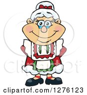 Clipart Of A Happy Mrs Claus Royalty Free Vector Illustration by Dennis Holmes Designs