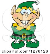 Clipart Of A Happy Male Christmas Elf Royalty Free Vector Illustration