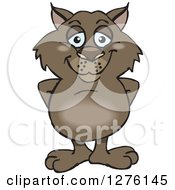 Clipart Of A Happy Wombat Standing Royalty Free Vector Illustration by Dennis Holmes Designs
