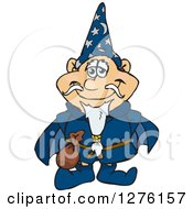 Clipart Of A Happy Wizard Standing Royalty Free Vector Illustration by Dennis Holmes Designs