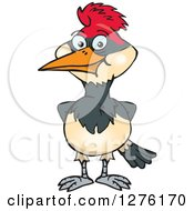 Clipart Of A Happy Woodpecker Royalty Free Vector Illustration by Dennis Holmes Designs