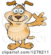 Sparkey Dog Standing And Waving