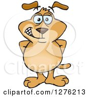 Clipart Of A Sparkey Dog Standing Royalty Free Vector Illustration by Dennis Holmes Designs