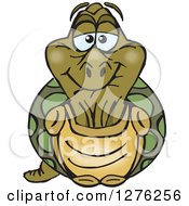 Clipart Of A Happy Old Tortoise Royalty Free Vector Illustration by Dennis Holmes Designs