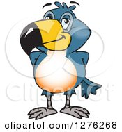 Clipart Of A Happy Toucan Bird Royalty Free Vector Illustration