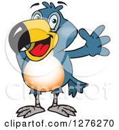 Clipart Of A Happy Toucan Bird Waving Royalty Free Vector Illustration