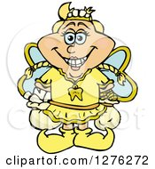 Clipart Of A Happy Tooth Fairy Royalty Free Vector Illustration