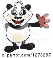 Happy Panda Waving