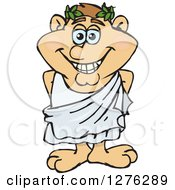Clipart Of A Happy Greek Man In A Toga Royalty Free Vector Illustration by Dennis Holmes Designs