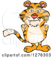 Clipart Of A Tiger Standing Royalty Free Vector Illustration by Dennis Holmes Designs