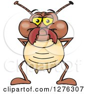 Clipart Of A Happy Termite Standing Royalty Free Vector Illustration by Dennis Holmes Designs