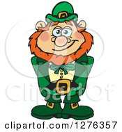 Clipart Of A Happy Leprechaun Royalty Free Vector Illustration by Dennis Holmes Designs