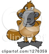 Clipart Of A Happy Platypus Royalty Free Vector Illustration by Dennis Holmes Designs