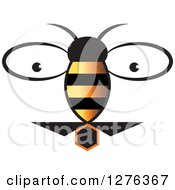 Clipart Of A Bee And Eyes Royalty Free Vector Illustration by Lal Perera