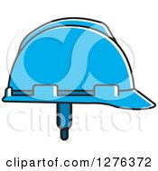 Clipart Of A Blue Hardhat Royalty Free Vector Illustration by Lal Perera