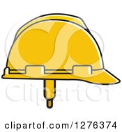Clipart Of A Yellow Hardhat Royalty Free Vector Illustration by Lal Perera