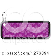 Clipart Of A Black And Purple Snowflake Patterned Christmas Retail Or Gift Tag Royalty Free Vector Illustration