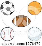 Soccer Ball Basketball American Football Baseball And Golf Ball
