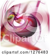 Clipart Of A 3d Pink Fractal Sphere On A Matching Background Royalty Free Illustration