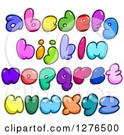 Clipart Of Colorful Cartoon Comic Bubble Lowercase Alphabet Letters Royalty Free Vector Illustration