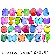 Clipart Of Colorful Cartoon Comic Bubble Capital Alphabet Letters Royalty Free Vector Illustration