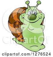 Happy Green Snail